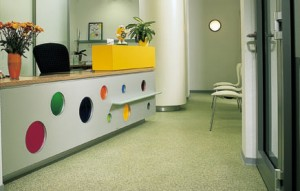 Desk At Dental Office With Silikal Flooring