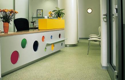 Dental Office Flooring Desk At Dental Office With Silikal Flooring