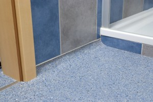 Flooring for a wet room