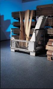 Flooring in A self storage unit displayed.