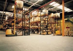 Rack displayed on industrial flooring.